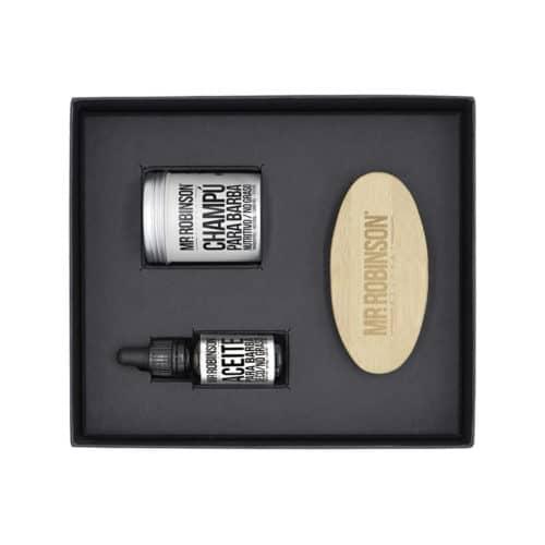 kit champú, aceite y cepillo para la barba 2
